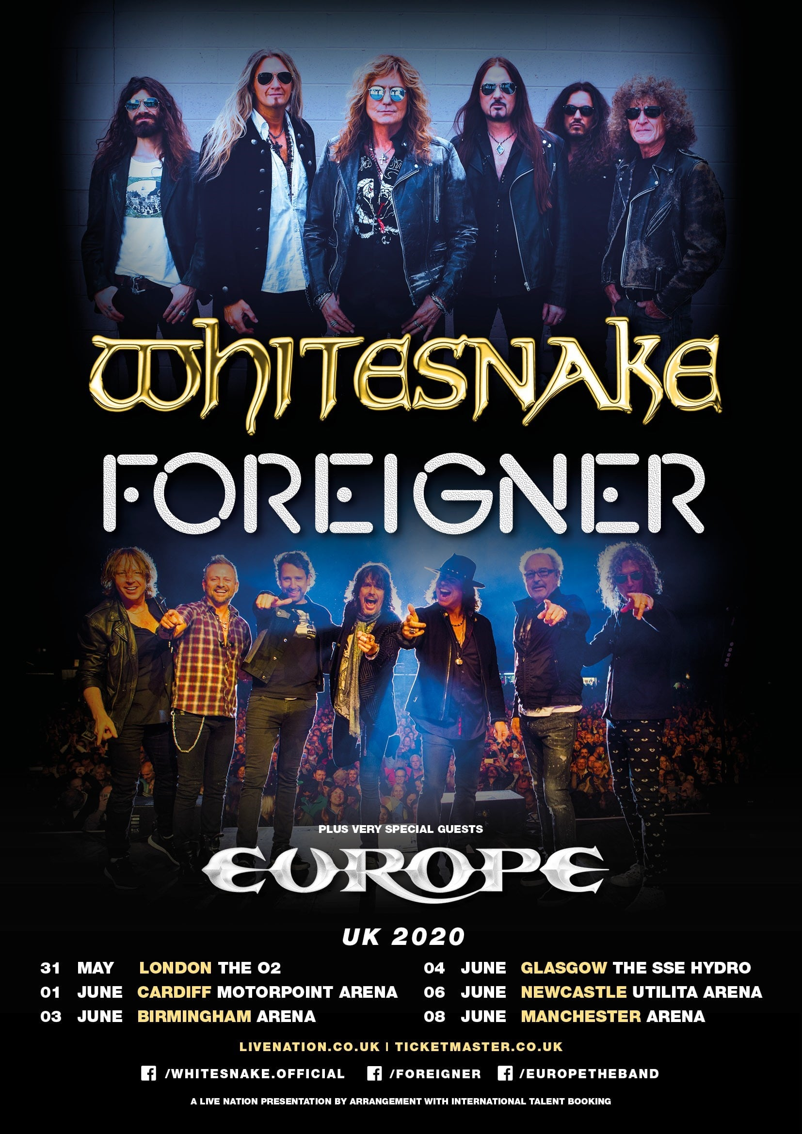 Lindsey Stirling Tour 2020.Whitesnake Foreigner Announce U K 2020 Tour Plus Very