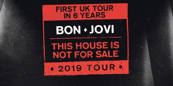 Bon Jovi This House is Not For Sale UK Tour Poster